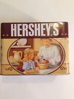 Hershey's Chocolate Collectible Recipe Tin Cards Included Kisses Fast Ship