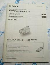 Genuine Sony HDR-CX12 Handycam Camera Owners Manual Guide Original