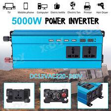 5000W DC12 à AC220V LED Numérique Puissance Inverter Onduleur Convertisseur FR