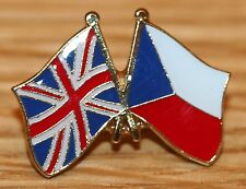 UK & CZECH REPUBLIC FRIENDSHIP Flag Metal Lapel Pin Badge Great Britain