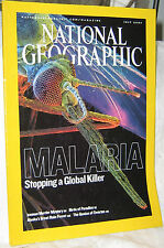 NATIONAL GEOGRAPHIC JULY 2007 MALARIA,ICEMAN,BIRDS,SWARMS