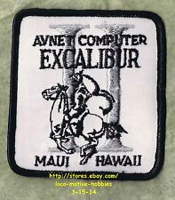 LMH PATCH Badge  AVNET COMPUTER EXCALIBUR II  Repair Sales 1980s  MAUI Hawaii