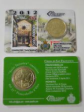 """Coincard Officiel San Marino 2012 """"église San Francesco"""" Timbre 50 cent"""