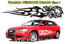 Adesivo DRAGO FIAMMANTE fiamma auto camion barca car flaming dragon stickers