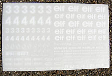 """Ranura de coche Scalextric 1/32nd escala """"Elf"""" Stickers Calcomanías"""