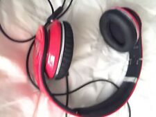 BEATS BY DR. DRE STUDIOS HEADPHONES .RED.Has A Crack On Top But Fully Functional