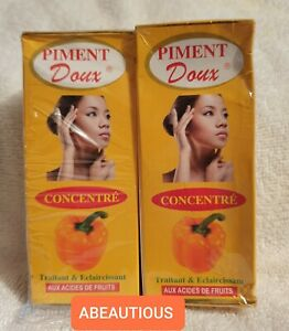 2X PIMENT DOUX SERUM WITH FRUIT ACIDS (60ML X 2). BRAND NEW AND SEALED