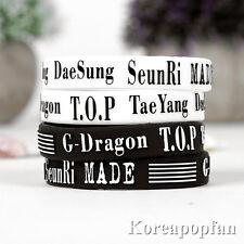 2pairs G-DRAGON GD BIGBANG MADE taeyang daesung seungri wristband x4 KPOP NEW