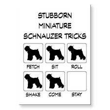 MINIATURE SCHNAUZER Stubborn Tricks FRIDGE MAGNET Steel Case Funny