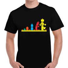 Evolution Of Lego T-Shirt Funny Robot Birthday Present Gift Adult Tee Top