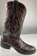 NOCONA USA Vintage Exotic Dark Brown Leather Western Cowboy Boots Men 11 AA