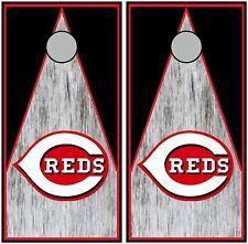 Cincinatti Reds 0558 custom cornhole board vinyl wraps stickers