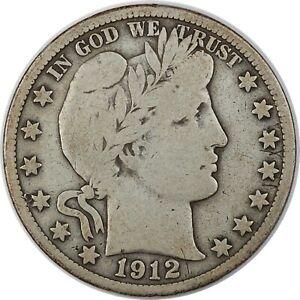 1912-D United States Barber Half-Dollar 50c - F Fine Condition