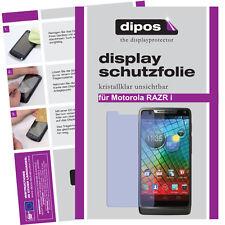 2x Motorola RAZR I Schutzfolie klar Displayschutzfolie Folie unsichtbar Display