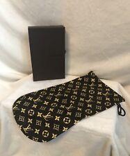 Vintage LOUIS VUITTON 100% Cotton Accessories Shoe Handbag DRAWSTRING BAG POUCH