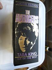 THE AVENGERS SIX OF THE BEST TARA KING BOX SET VHS VIDEO 3 TAPE LINDA THORSEN