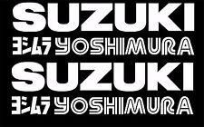 2x Suzuki Yoshimura Decals GSXR 300mm any colour