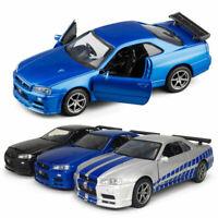 1:36 Nissan Skyline GTR R34 Die Cast Modellauto Auto Spielzeug Model Sammlung
