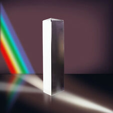 8cm Prism Physics Optical Glass Triple Triangular Teaching Light Spectrum New