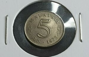 Error Malaysia 5 sen 1973 Rotated