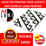 2500 sheets A4 160 gsm GLOSSY 2 SIDED WHITE PRINTER PAPER for LASER & DIGITAL