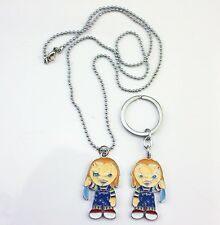 """""""Chucky"""" 12"""" RARE - Necklace & Keychain From Child's Play Movie Gift"""