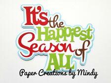 CRAFTECAFE MINDY CHRISTMAS SEASON premade paper piecing scrapbook title diecut