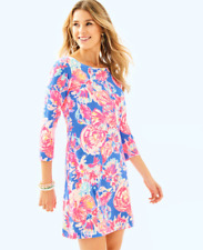 NWOT Lilly Pulitzer Noelle Bennet Blue Bay Dreamin Size XSmall XS 100% Cotton