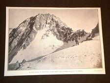 Vetta del Nordend nel 1909 Vi morirono gli Alpini Castelnuovo Bompadre Sommaruga