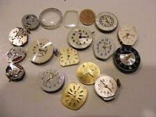 LOT 16 Vtg WATCH Faces & Movements 4 SPARE PARTS Repurpose Steampunk Art Crafts