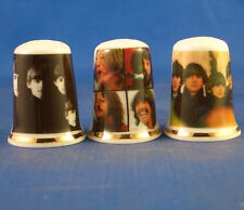 Birchcroft Thimbles -- Set of Three -- Beatles LP Covers