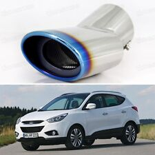 Blue Curved Tailpipe Exhaust Muffler Tail Pipe Tip for Hyundai ix35 2011-2014