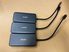 Lot of 3 Anker USB C Hub Adapter 5in1 4K C to HDMI SD microSD Card Reader A8334