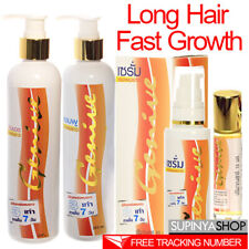 Genive Long Hair Fast Grow 3X FASTER - 7 DAYS Shampoo Conditioner Serum Eyebrow