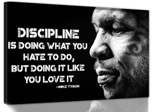 MIKE TYSON QUOTE BOXING CHAMPION BOX CITATION CANVAS WALL ART DEEP FRAMED PRINT