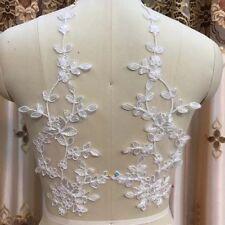 Blanco #41 1 X Novia Adorno Floral Con Cable de boda de encaje y apliques Rojo