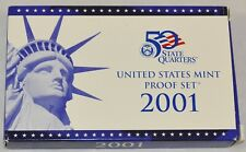 2001-S Proof Set United States Us Mint, Coa - 10 Coin Set - Free Shipping