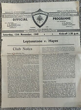 More details for leytonstone v hayes fa cup 4th qualifying round 1949/50