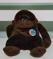 PLANET HOLLYWOOD BEANIE BABY GORILLA PLUSH TOY SOFT TOY ! 12CM!