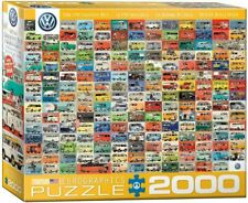 2000 Piece Jigsaw Puzzle ~ Eurographics NEW ~ The VW Groovy Bus