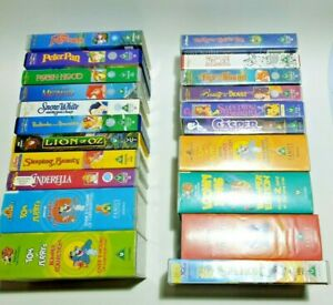 VHS Classic Kids Family Movies Cartoon Lot Of 26 Tapes Vintage Disney, WB, Fox