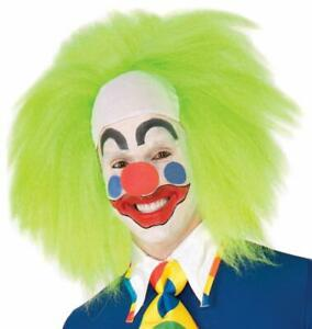 Wild Lime Clown Wig Circus Carnival Fancy Dress Up Halloween Costume Accessory