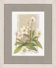 Lanarte-counted cross stitch kit-blanc pur-fleurs-PN-0146538