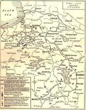 6x4 Photo ww1DBA World War 1 Map Turkeys Disastrous Advance Caucasus 1914