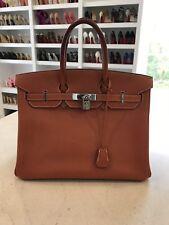 9ea912ed3d Hermes Vache Liegee Birkin 35 Authenic Orange With Box   Bag
