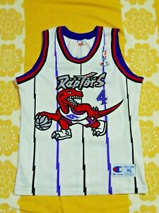 Vintage TORONTO RAPTORS Champion #4 Vincenzo  Esposito NBA Jersey Youth XL RARE