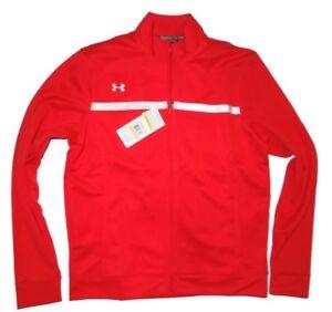 Under Armour women's red full zip Campus athletic Jacket size Medium