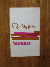 Original 1960s Morris cars advertising brochure