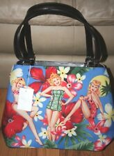 NWT Hawaiian Pinup Girls Aloha Retro Handbag Purse Shoulder Bag
