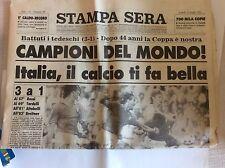 ITALIA CAMPIONE DEL MONDO DI CALCIO MONDIALI 1982 MUNDIAL SPAGNA  - STAMPA SERA